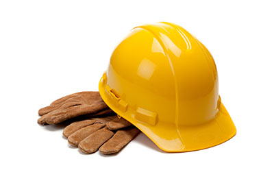 image of hard hat and gloves