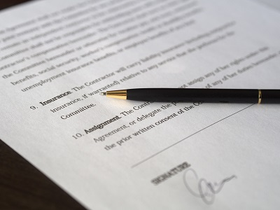 image of a contract pending signature